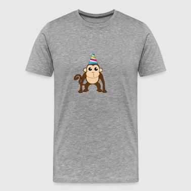 Singe avec un chapeau! - T-shirt Premium Homme