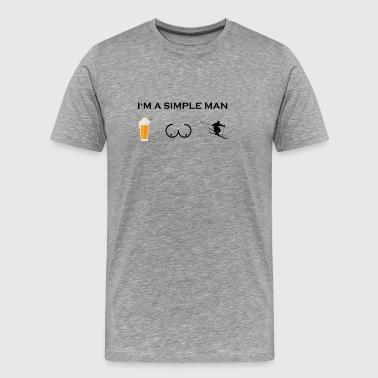 simples poitrines de bière de bière seins homme ski ski .png - T-shirt Premium Homme