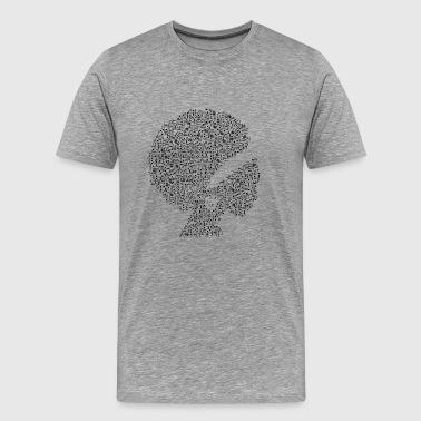 Afrikkalainen musiikki - Miesten premium t-paita