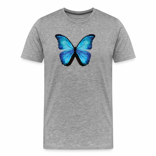 SCHMETTERLING POLYGON in blau - Männer Premium T-Shirt