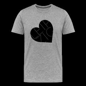 Leipzig Herz Liebe - Männer Premium T-Shirt