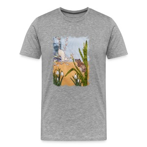 Mice and Pussy Willows Design - Men's Premium T-Shirt