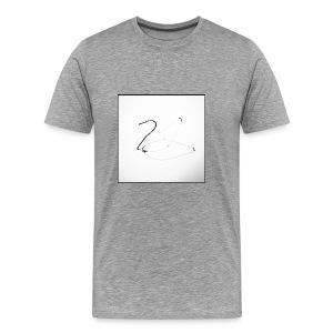 Schwan - Swan - Männer Premium T-Shirt
