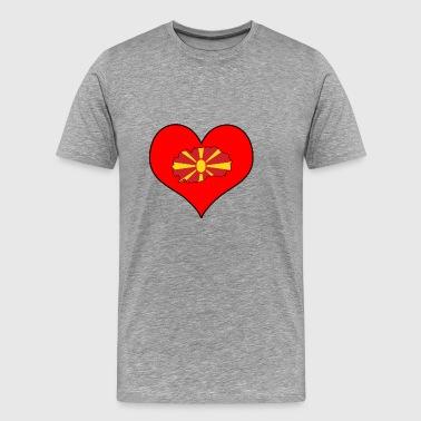 Loveland Euroopassa EU Makedonia Makedonia - Miesten premium t-paita