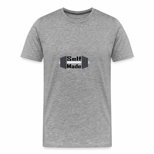 Self Made Black Text - Men's Premium T-Shirt