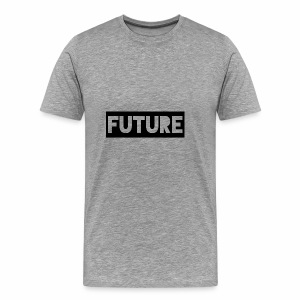Future Clothing - Text Rectangle (Black) - Men's Premium T-Shirt
