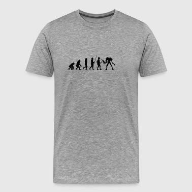 Evolutionin Monster T-paita Lahja - Miesten premium t-paita