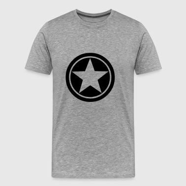 símbolo de la estrella del círculo - Camiseta premium hombre