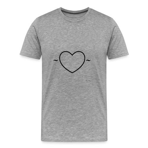 Heart Shirt - Mannen Premium T-shirt