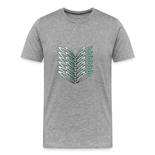 abstrakte Blätter - Männer Premium T-Shirt