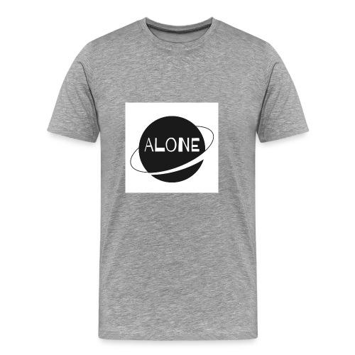 Alone planet white background - Men's Premium T-Shirt