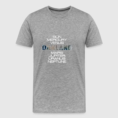 Cadeau du système solaire Planet Earth Oakland - T-shirt Premium Homme