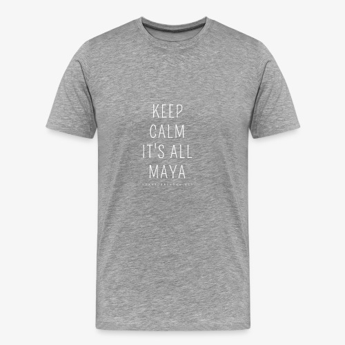 Heartcore Yoga 'It's All Maya 1' - Mannen Premium T-shirt
