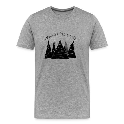 Outdoor Berge Alpen Mountain Love - Männer Premium T-Shirt