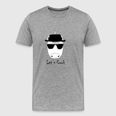 pozwala gotować biały jednorożec walter - Koszulka męska Premium