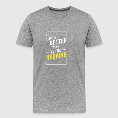 LIV ÄR BÄTTRE när du Fästa - Premium-T-shirt herr