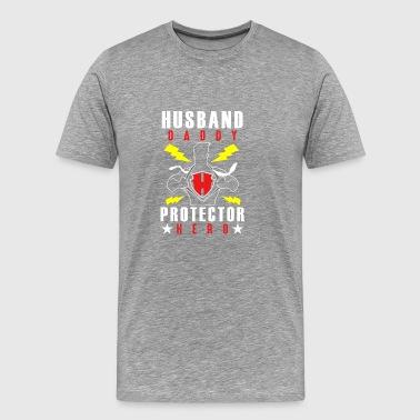 Mens Husband Daddy Protector Hero - Men's Premium T-Shirt