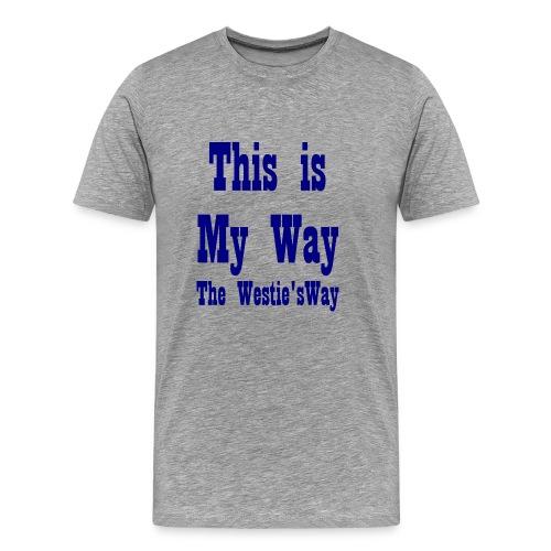 This is My Way Navy - Men's Premium T-Shirt