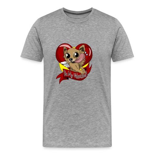 Engla Be my valentine? - Premium-T-shirt herr