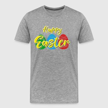 cadeau célébration Lapin de Pâques - Joyeuses Pâques - T-shirt Premium Homme