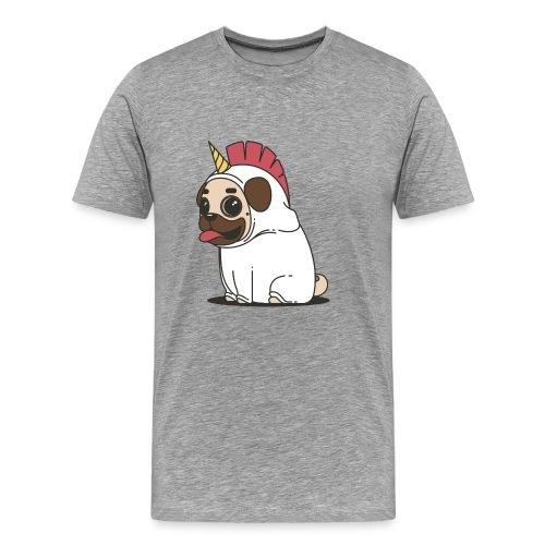 Mops Einhorn - Männer Premium T-Shirt