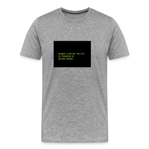 Mobbing- Utsatthet och Tillit! - Premium-T-shirt herr