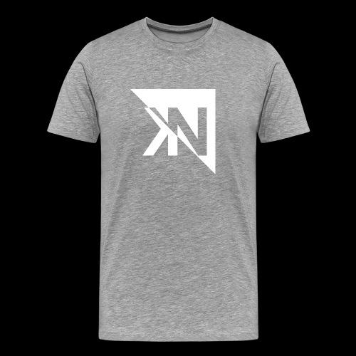 KN Logo halb invertiert - Männer Premium T-Shirt