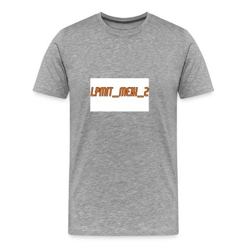 LPMIT_Meik_2 Schriftzug Orange - Männer Premium T-Shirt