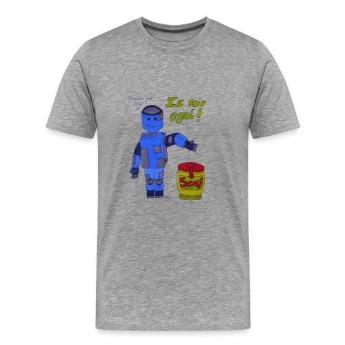 Roboter mit Senf - is mir egal! - Männer Premium T-Shirt