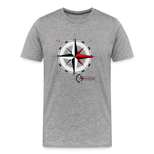 compass_logo_red - Männer Premium T-Shirt
