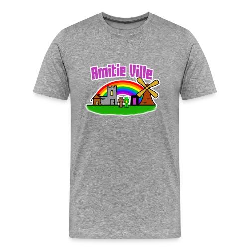 Amitie Ville Logo Shirt - Men's Premium T-Shirt