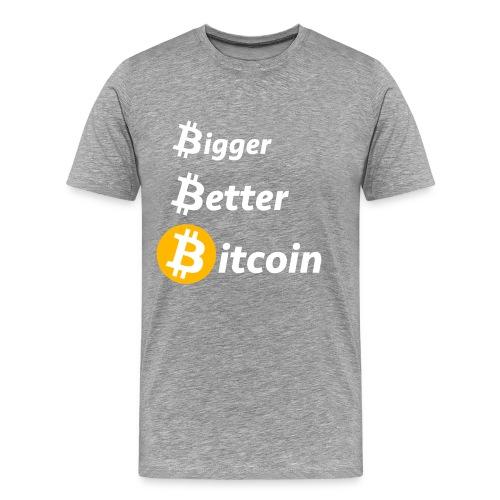 Bitcoin Slogan - Männer Premium T-Shirt