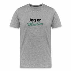 jeg er muslim - Herre premium T-shirt