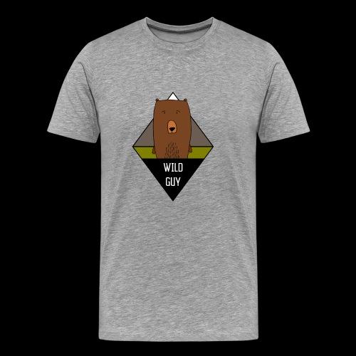 Wild Guy Bear Illustration - Männer Premium T-Shirt