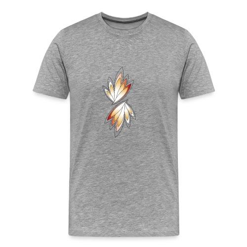 orange und gelbe Blätter - Männer Premium T-Shirt