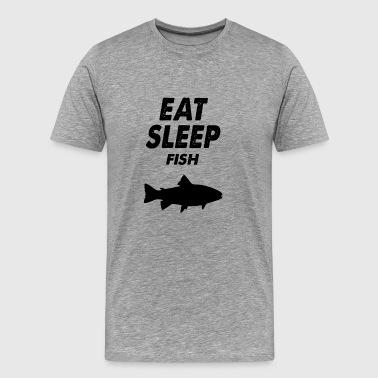 ät sovfisk - Premium-T-shirt herr