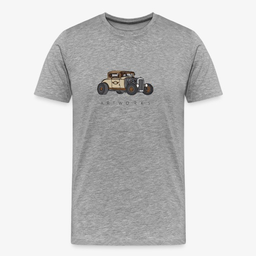 Hotrod colored brown - Männer Premium T-Shirt