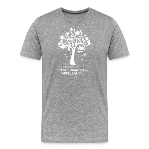 Weihnachtsapfelbaum klassisch, weiß - Männer Premium T-Shirt