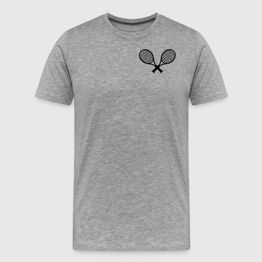 tennisracket - Premium-T-shirt herr