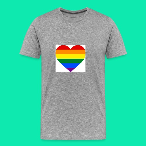 Pride- Heart - Men's Premium T-Shirt