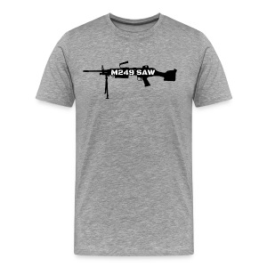 M249 SAW light machinegun design - Mannen Premium T-shirt
