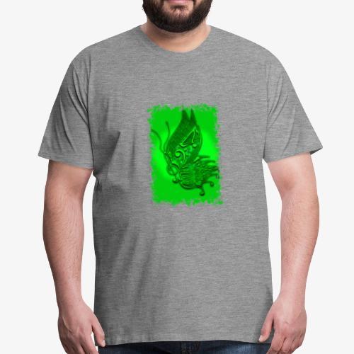 Musik-Schmetterling grün - Männer Premium T-Shirt
