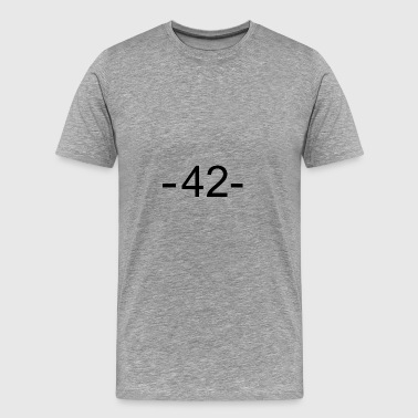 42 - Elämän tarkoitus - Miesten premium t-paita