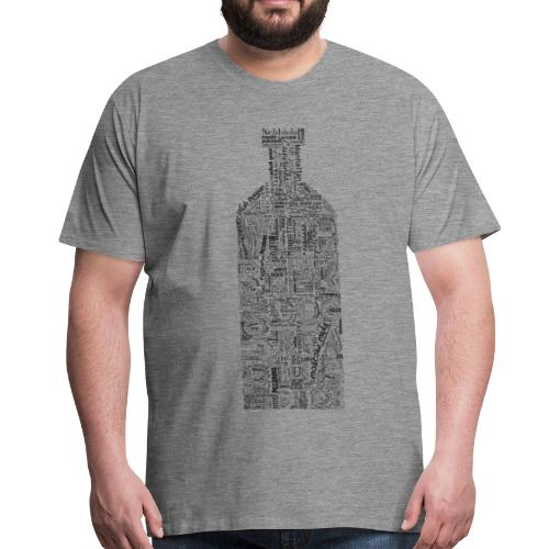 Bottle Full Tag Cloud - Maglietta Premium da uomo