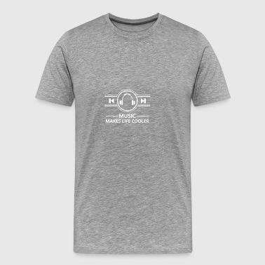Musique Casque Beats son rythme Bouton Lecture - T-shirt Premium Homme