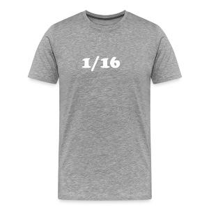 1/16 - Miesten premium t-paita
