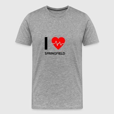 Jag älskar Springfield - I Love Springfield - Premium-T-shirt herr