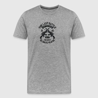 Guns rifler War AK47 julegave - Herre premium T-shirt