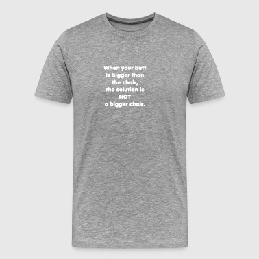 Otyłość krzesełkowe roszczenia tłuszczu - Koszulka męska Premium