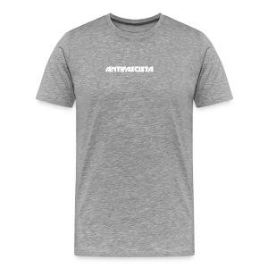 Antifascista vit - Premium-T-shirt herr